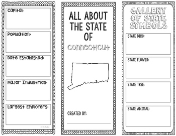 Connecticut - State Research Project - Interactive Notebook - Mini Book
