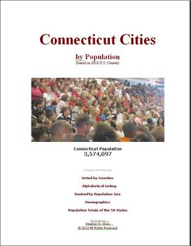 Connecticut Cities by Population