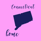 Connecticut Clipart, USA State Vector Clipart, Connecticut Home, Gold US Clipart