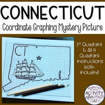 Connecticut Coordinate Graphing Picture 1st Quadrant & ALL 4 Quadrants