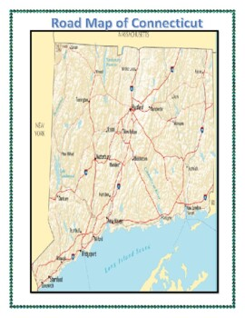 Connecticut Geography Maps, Flag, and Data Analysis Assessment