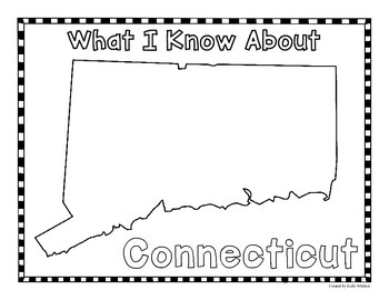 Connecticut Graphic Organizers (Perfect for KWL charts and geography!)