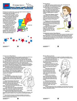 Connecticut History–Interactive Notebook Connecticut State Study Unit + AUDIO!