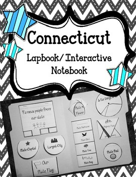 Connecticut Lapbook/Interactive Notebook.  US State Histor