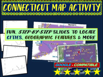 Connecticut Map Activity- fun, engaging, follow-along 20-slide PPT