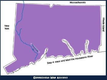 Connecticut Map Activity- fun, engaging, follow-along 20-slide PPT