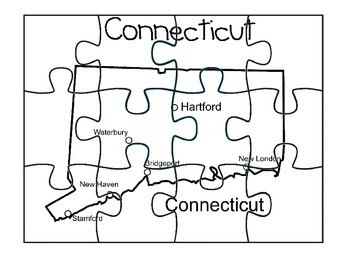 Connecticut Puzzle Map