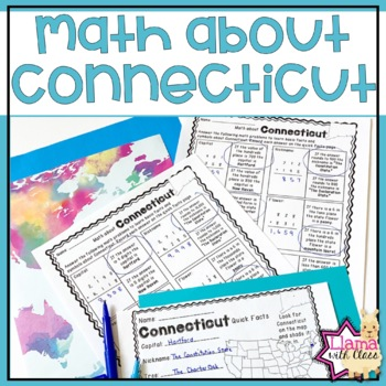 Math about Connecticut State Symbols through Addition Practice