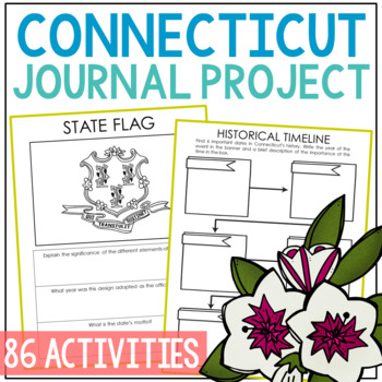 CONNECTICUT History Guided Research Project, Notebook Journal Pages {EDITABLE}