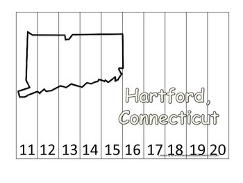 Connecticut State Capitol Number Sequence Puzzle 11-20.  G
