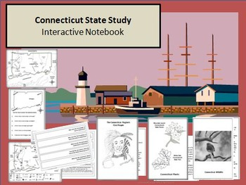 Connecticut State Study, Interactive Notebook, & Bulletin Board Display