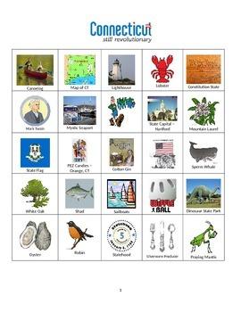 Connecticut:  State Symbols and Sites Bingo
