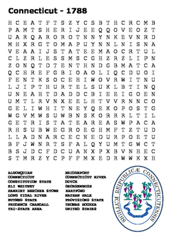 Connecticut State Word Search