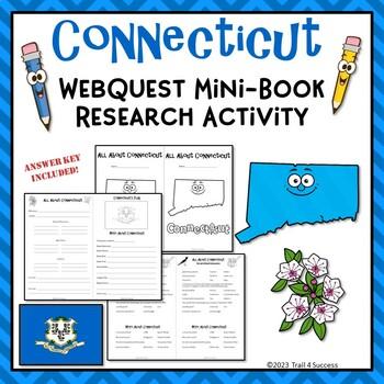 Connecticut Webquest Research Activity Mini Book Common Core
