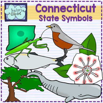 Connecticut state symbols clipart