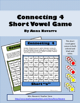 Connecting 4 - Short Vowel Game