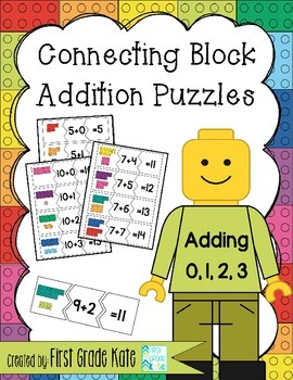 Addition Math Fact Puzzles for Adding 0,1,2,3