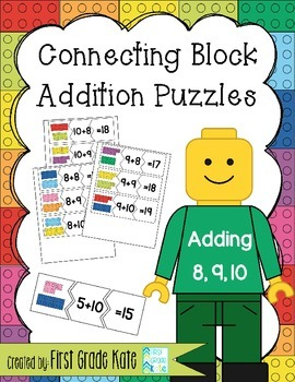 Addition Puzzles for Adding 8,9,10