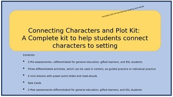 Connecting Characters and Plot Kit: The Master Kit
