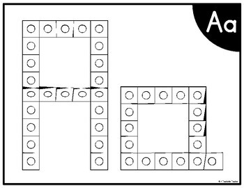 Connecting Cubes Alphabet Task Cards