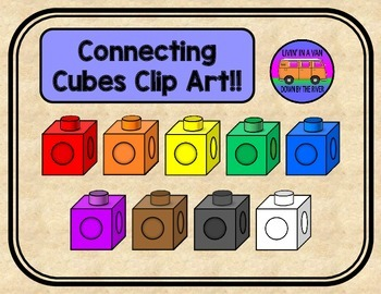 Connecting Cubes Clip Art