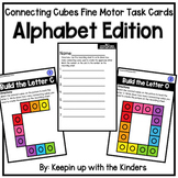 Connecting Cubes Fine Motor Task Cards; Alphabet Edition