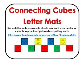 Connecting Cubes Letters - Lower Case