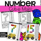 Connecting Cubes Number Mats - Fine Motor Fun!