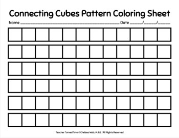 Connecting Cubes Pattern Coloring Sheet