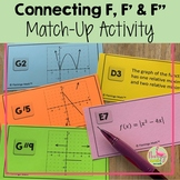 "Calculus Connecting F F' and F"" Match Up Activity (Unit 5)"