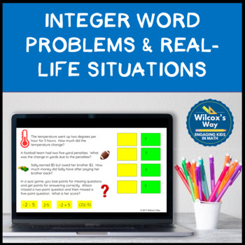 Connecting Integers Expressions to Real Life Situations: Google Slides Activity