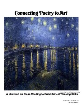 Connecting Poetry to Art:A Mini-Unit on Close Reading to Build Critical Thinking