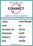 Connecting Words: Visual Support for Using Conjunctions (FREEBIE!)
