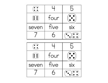 Connecting number words, numerals and quantities  CC 1.K.A.4