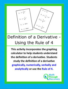 Calculus:  Connecting the Definition of a Derivative with the Rule of 4