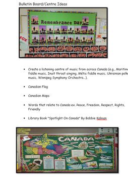 Connecting with Canadians Social Studies Hands on Unit Package