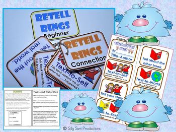 Connections Differentiated Graphic Organizers & Retell Rings Blackline