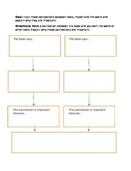 Connections Text Map / Graphic Organizer