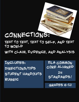 Connections: Text to Text, Self & World with Claim, Evidence, and Analysis