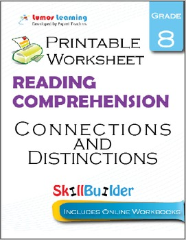 Connections and Distinctions  Printable Worksheet, Grade 8