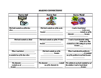 Connections to Count On graphic organizer