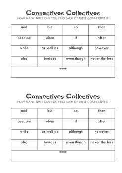 Connectives Collectives - VCOP - free