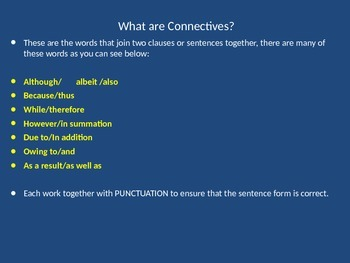 Connectives/Conjunctions-How Do They Work?