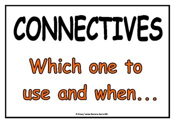 Connectives Display Posters - which one to use and when