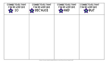 Connectives Sorting Activity