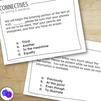 Connectives - Transitions Task Cards