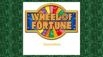 Connectives - Wheel of Fortune Starter