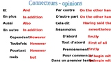 Connectives and opinions