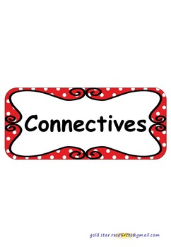 Connectives on Red Polka Dots for Display.