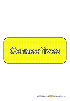 Connectives on Yellow Polka Dots for Display.
